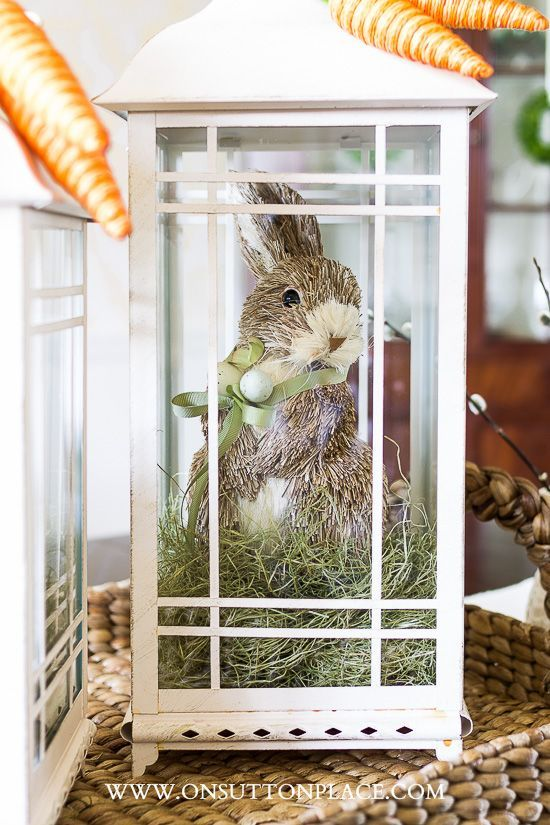 Decorating with Lanterns: Easter Bunnies & Carrots