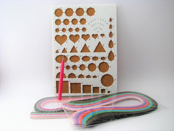 Quilling set with template board  quilling pen and paper