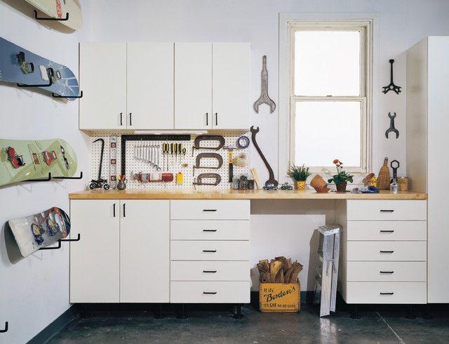 simple garage storage cabinets in cool structured design