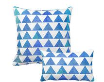 Throw pillow, Watercolor pillow, Geometric pillow, Abstract pillow, Painted Blue, decorative pillow, Scandinavian pillow, Modern Home Decor