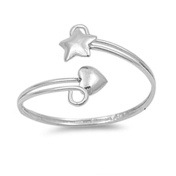 Arrow Heart .925 Sterling Silver Toe Ring