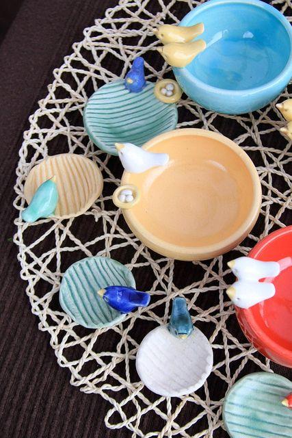 Clay Craft ~ Bird Pottery by Tasha McKelvey by tashamck