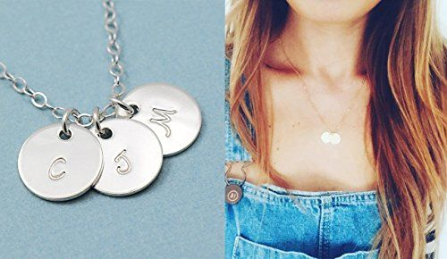 ADD A CHARM . Initial Disc Charm . Personalized Charms . 14k Gold Fill or Sterling Silver . Disk Pendant . For Necklace or Bracelet . Add to Any Chain