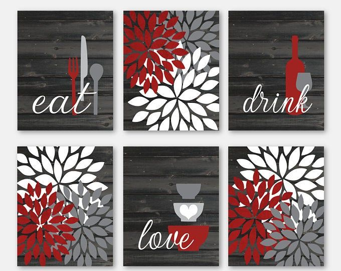 Etsy Your Place To Buy And Sell All Things Handmade Kitchen Wall Art Kitchen Decor Modern Barn Wall Art