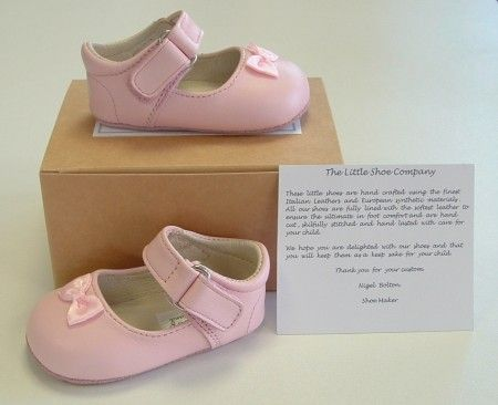Ickle Shooz Classic Pink Mary Jane Pram Shoes - Handmade Baby Ickle Shooz - Little Wanderers
