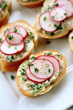 Radish-Chive Tea Sandwiches. These were SO GOOD! I didn't use sesame seeds and they still turned out great.
