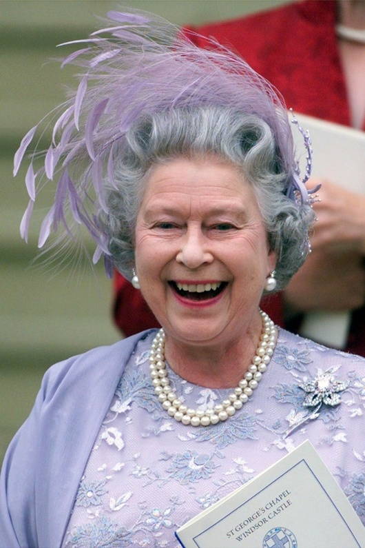 The Queen, in a natural laugh: