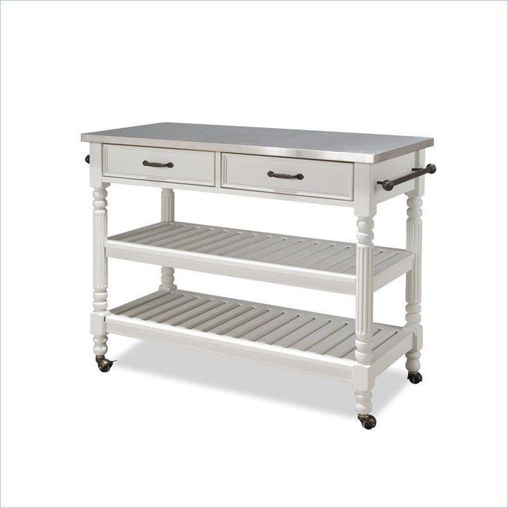 Home Styles Savannah Stainless Steel Kitchen Cart
