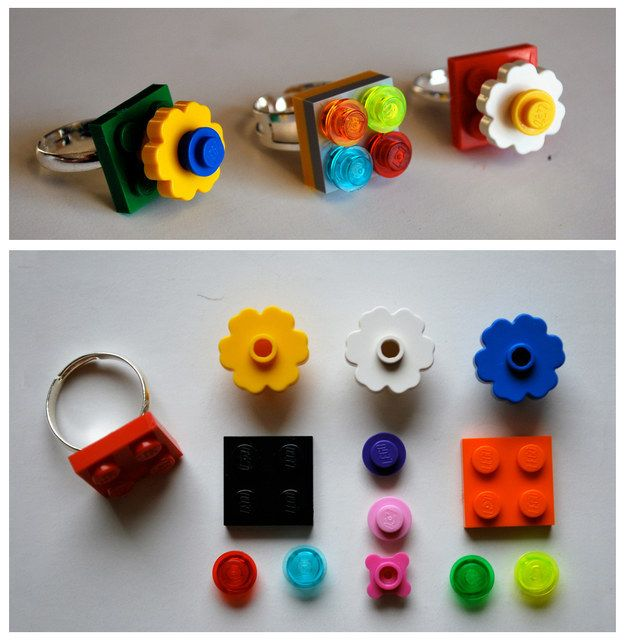A ring that is not only original, but can also be changed to match your outfit? No problem.   21 Ways To Upcycle Your Lego