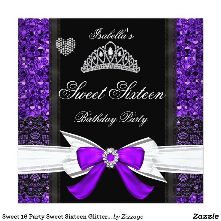 881 best SWEET SIXTEEN Invitations images – Sweet Sixteen Invitation Cards