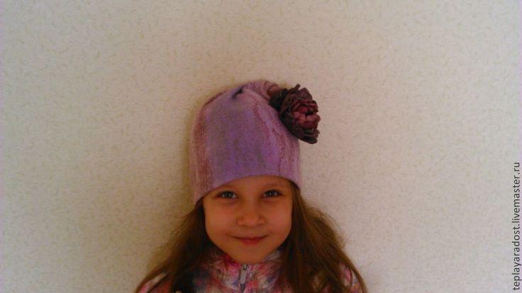 """Купить Шапочка для девочки """"Завихрение"""" - сиреневый, головные уборы для детей, авторская ручная работа"""