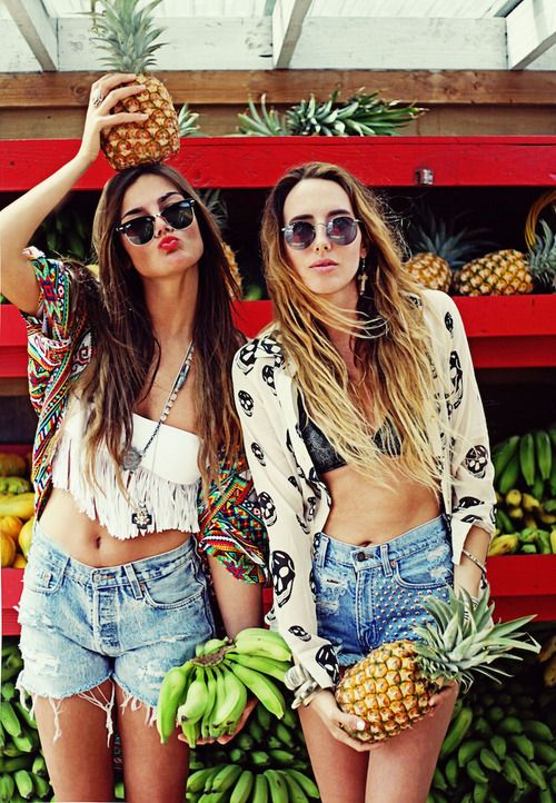 Summer Fashion #SS14SWIM #TotallyTropical #figleavesSummer Fashion, Boho Chic, Beach Outfit, Summer Outfit, Summer Style, Festivals Fashion, Pineapple, High Waist Short, Summer Clothing