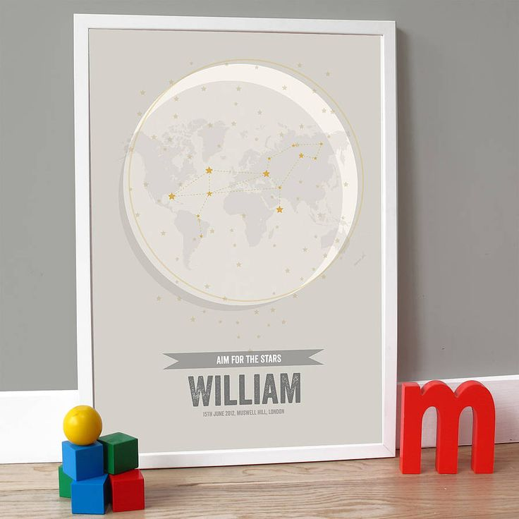 personalised date of birth star sign by a piece of | notonthehighstreet.com