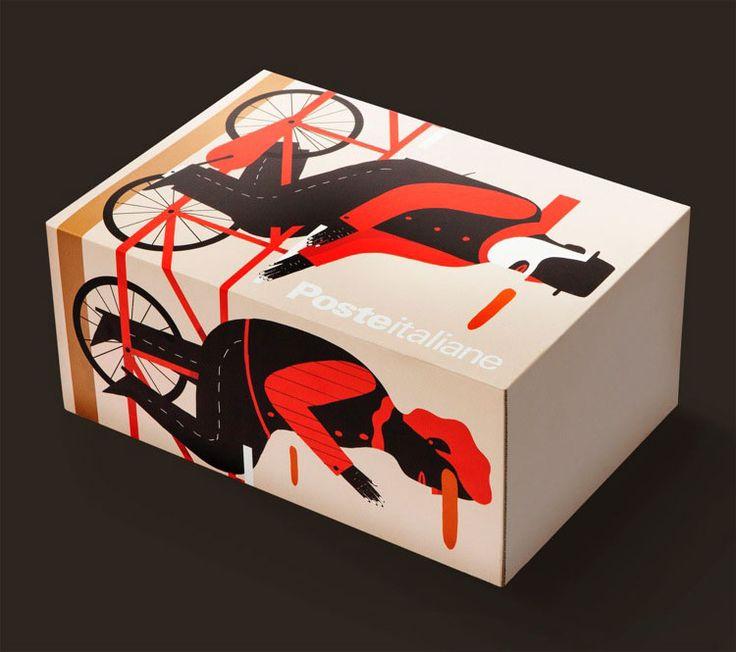 """Concorso poste italiane """"pacco d'artista"""".Vota il tuo pacco preferito e potrai volare a New York.Ogni artista ha creato una versione unica del pacco postale : http://dress-art.it/blog/concorso-poste/"""
