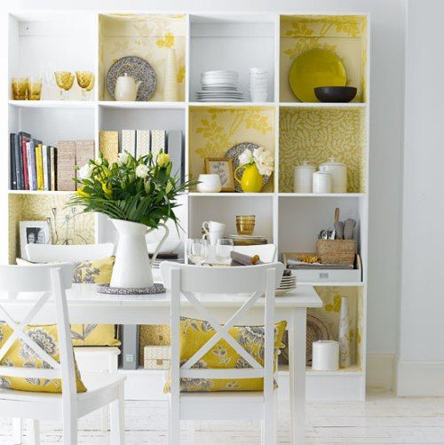 How to make a rental your own. – English Muse    I like this idea for a room divider I found on their site.