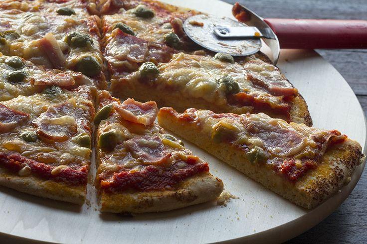 Masa de pizza tipo pan