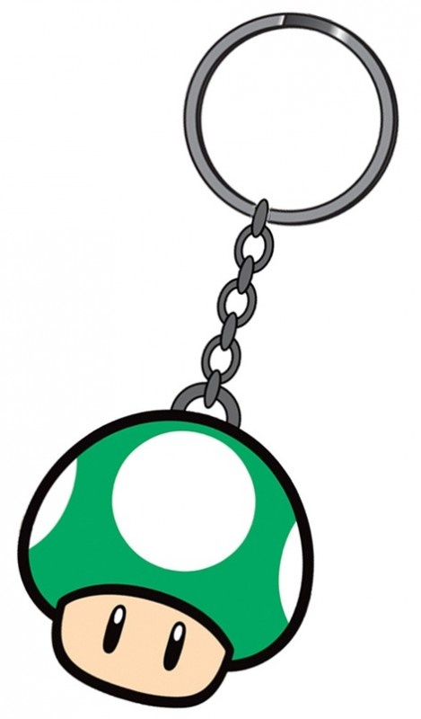 Nintendo 1 Up Mushroom Rubber Keychain | Keychains | The A Factor Shop