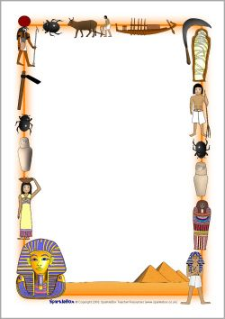 Ancient Egypt A4 page borders (SB4984) - SparkleBox