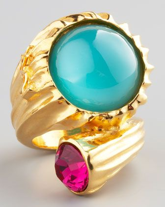 Golden Snail Ring, Green by Yves Saint Laurent at Neiman Marcus.