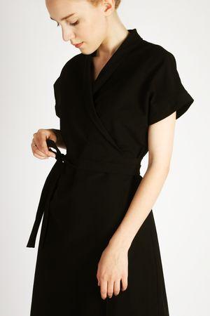 Платье-кимоно черное