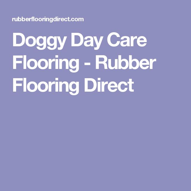 Doggy Day Care Flooring - Rubber Flooring Direct