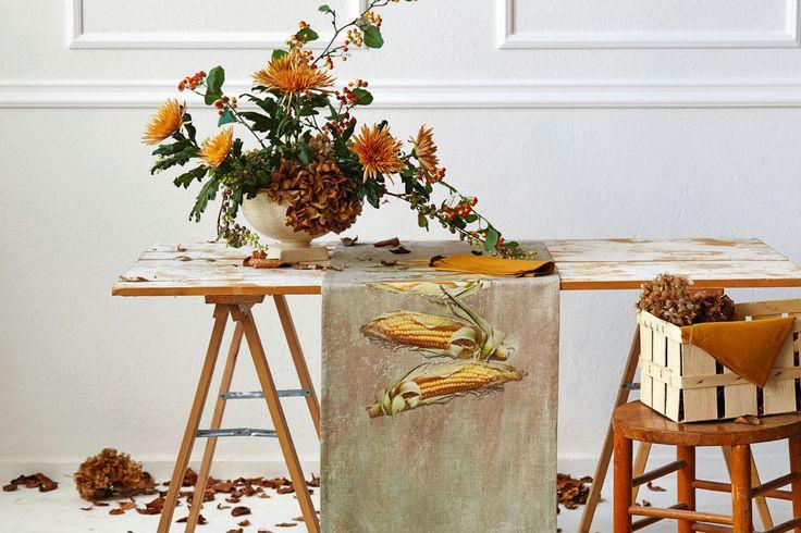 Tischläufer, Maiskolben im Herbst von Apelt, Artikel 7913