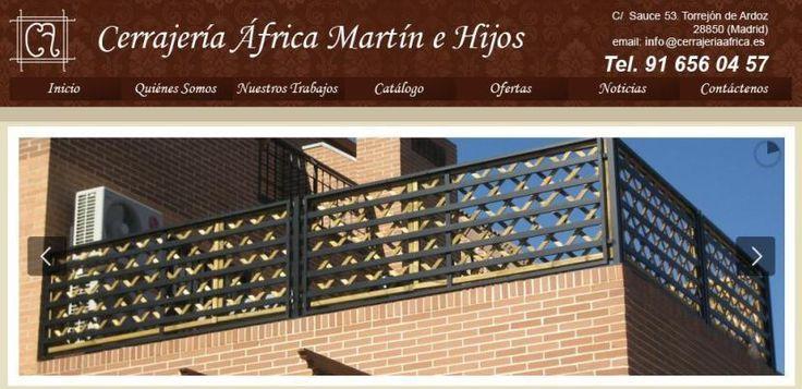 Cerrajería África. Rejas en Madrid. Rejas para ventanas, Cancelas, Fachadas de chales…