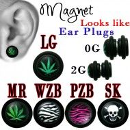 Wholesale Body Jewelry Magnetic Design Fake Plugs W/Logo Body Jewelry MP3 Product Code: MP3