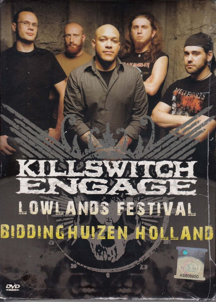 KILLSWITCH ENGAGE Lowlands Festival Holland 2008 DVD NEW NTSC PAL Region All