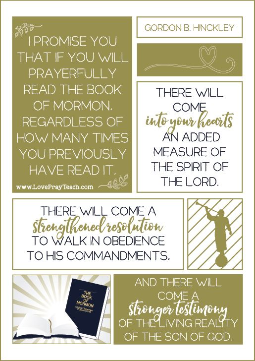 "Gordon B. Hinckley Chapter 16: ""The Power of the Book of Mormon"" Relief Society 2017 Lesson helps including printables, handouts, power point, activity ideas, discussion starters and more! www.LovePrayTeach.com"