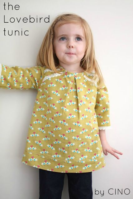 the Lovebird tunic - Long sleeve, single front pleat, button closure