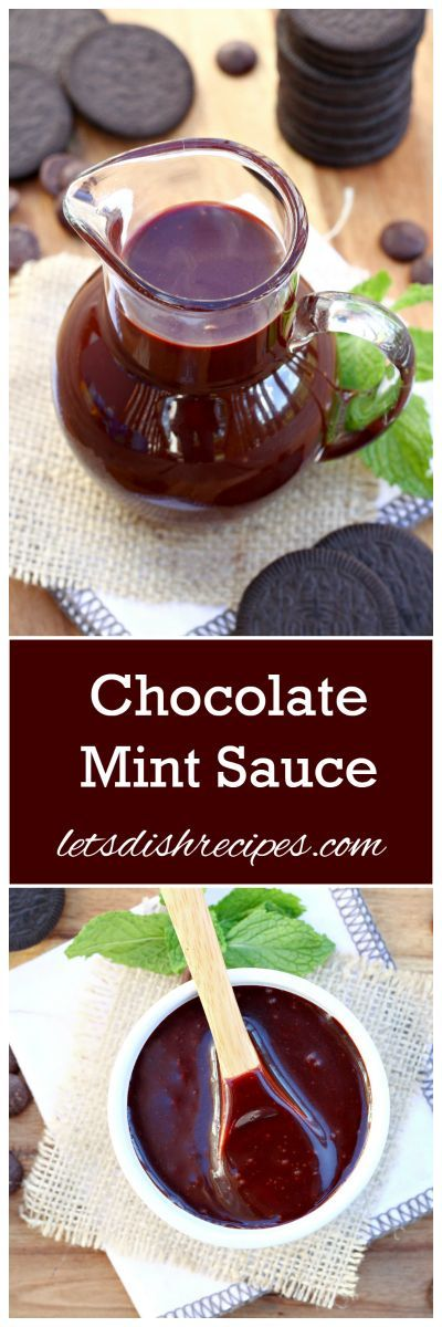 Chocolate Mint Sauce Recipe | This delicious sauce is great with so many desserts. Try it on vanilla ice cream with some Oreos!