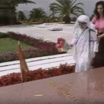 Mother Teresa at the grave of Enver Hoxha - Gamma Cloud. Shevisited the grave of Communist  Enver Hoxha in 1990, laying a wreath of flowers on the tomb.