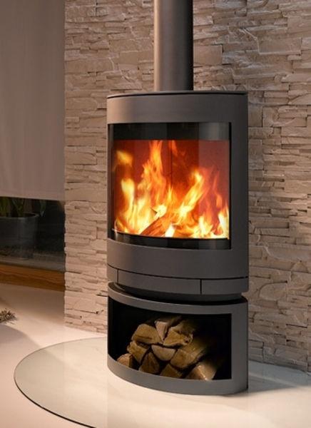 contemporary wood-burning stove (rotating) EMOTION M SKANTHERM