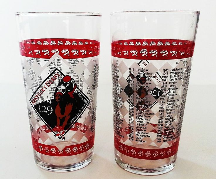 Kentucky Derby Official Glasses 129 Running May 3, 2003 Set of Two