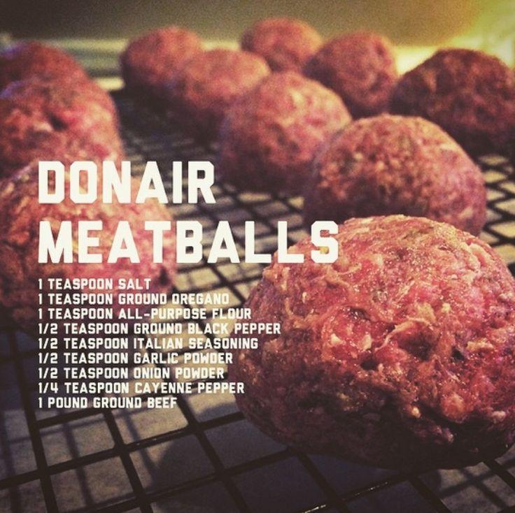 East Coast Donair Meatballs