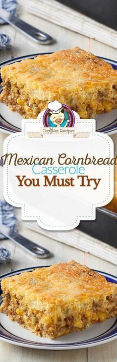 Mexican cornbread casserole is easy to make, and it makes full meal. Serve this with a salad for a complete meal.