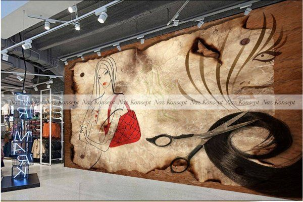 Kuaför Salonu Duvar Kağıdı 10