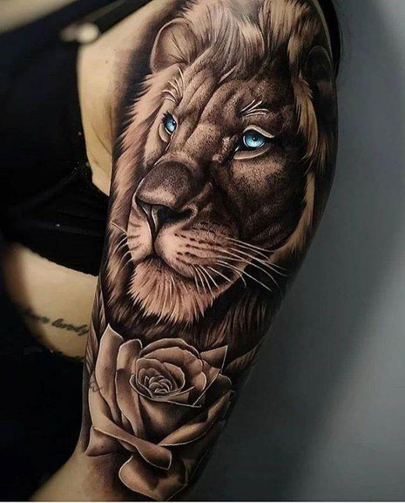 Beautiful Lion By Edipo Tattooist Tattoo Tattoos Tattoolife Ink Inked Liontattoo Tatt Best Sleeve Tattoos Floral Tattoo Sleeve Lion Tattoo Sleeves