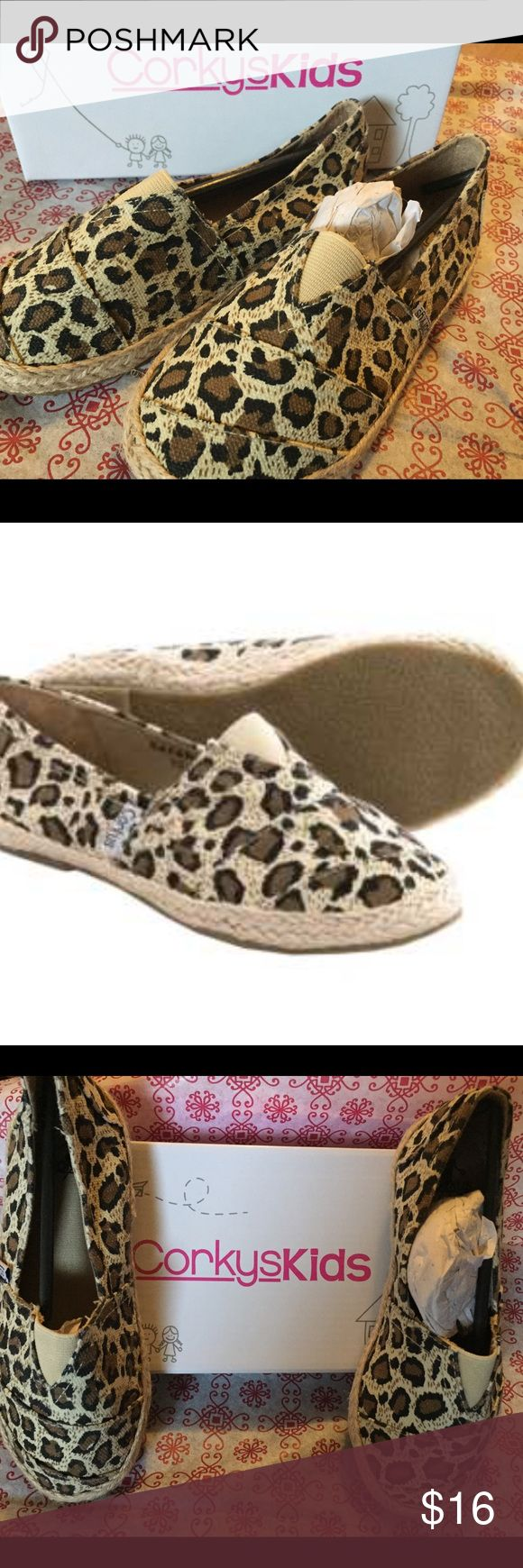 New 🎉Corkys Kids Safari Cheetah Shoes Size 13 New, shipped in the box.  Corkys Kids Safari Cheetah Shoes Size 13. These will be sent ready to give, I will send them gift wrapped!:) offers welcome Corky Shoes
