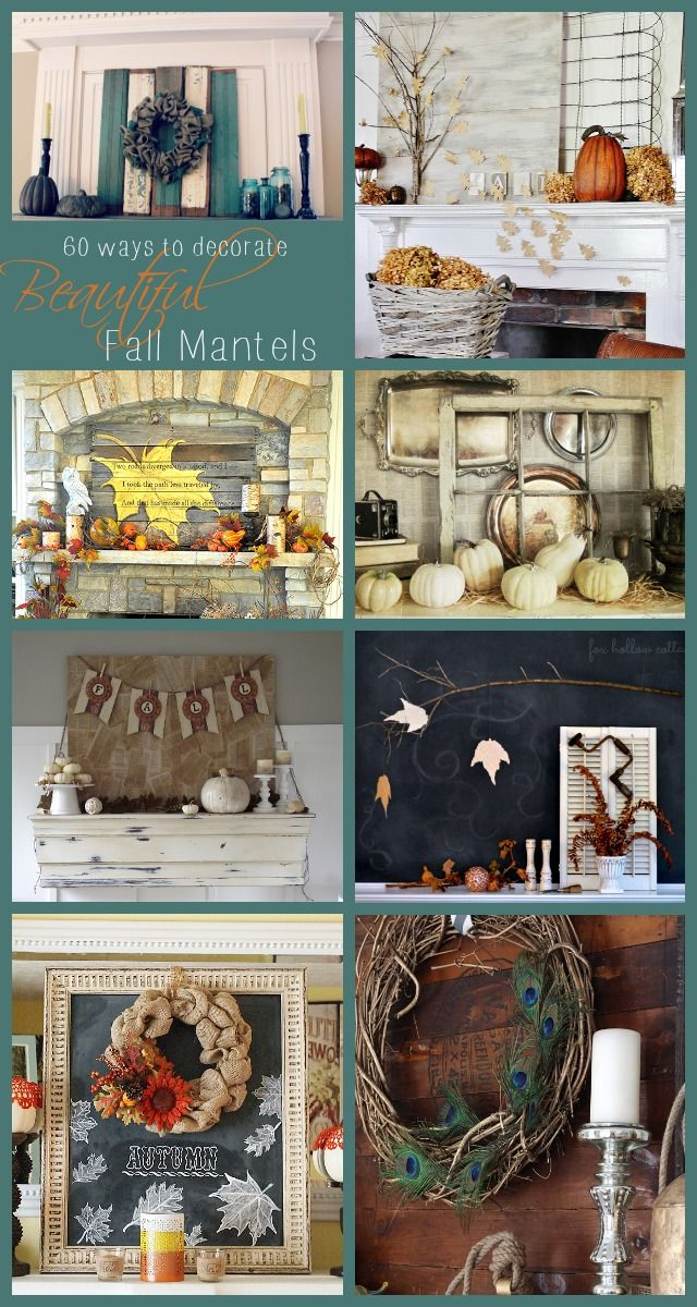 Atta Girl Says | 60 Fall Mantel Decorating Ideas | http://www.attagirlsays.com