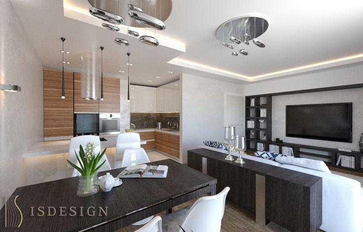 Гостиная - Дизайн проект интерьера квартиры 3+kk в Резиденции River watch, Прага, Чехия. Квартира в современном стиле для молодой семьи. Архитектор – дизайнер Инна Войтенко.