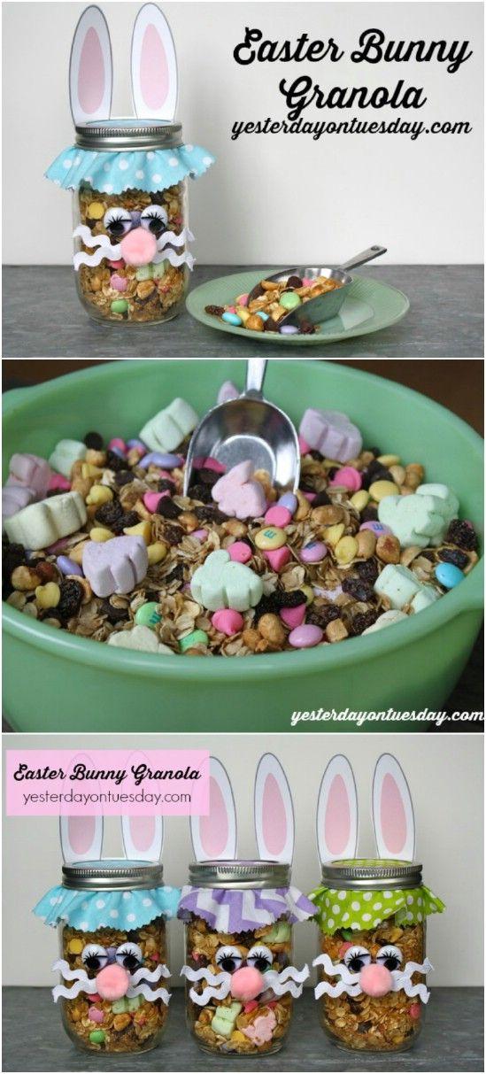 Pascua conejito de granola