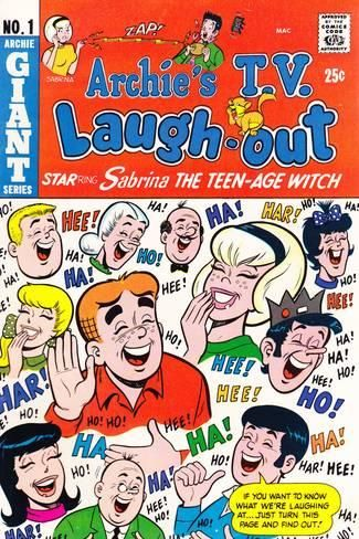Archie Comics Retro: Archie's T.V. Laugh-out Cover No.1 with Sabrina the Teen-age Witch (Aged) Posters at AllPosters.com