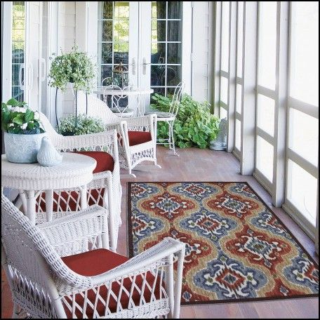 Red Outdoor Rugs Patios
