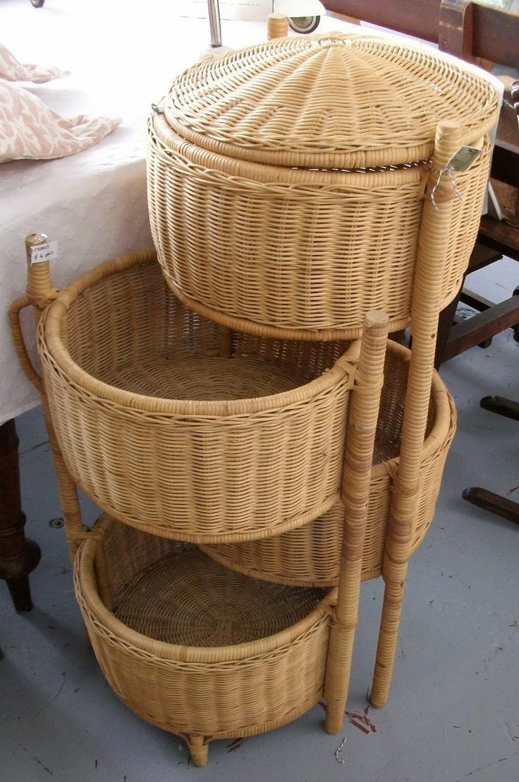 Wicker storage basket home storage baskets melbury rectangular wicker - Round Wicker Storage Basket Shelf With Lid Wicker Craft Modern Stuff Storage