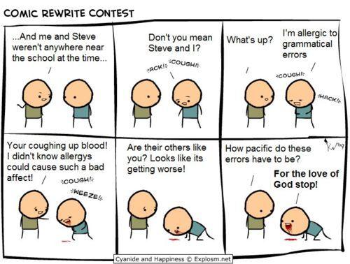 Is poor grammar okay on Y answers?
