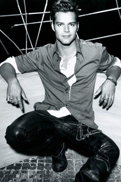 Ricky Martin leather