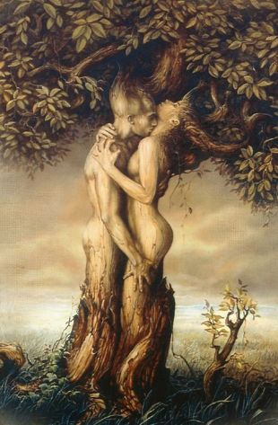 """Tree of Life - """"We twined our legs like the roots of a tree, each clinging to the other for support as we worked our bodies closer."""" #art"""