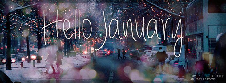 hello january sayings   Hello January Facebook Covers